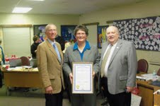 State Senator Bruce Caswell, Dr Tina Kerr and State Representative Ken Kurtz