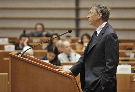 Microsoft founder Gates addresses the European Parliament in Brussels