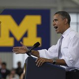 U.S. President Barack Obama delivers remarks on college affordability at the University of Michigan in Ann Arbor