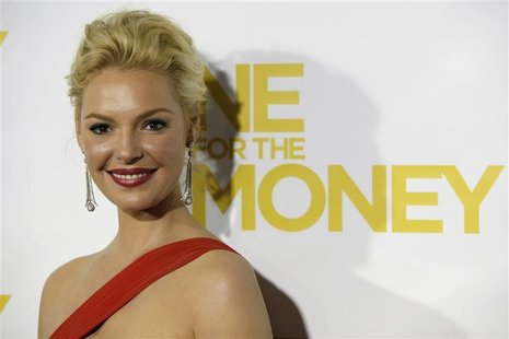 "Heigl, star of new film ""One For The Money,"" arrives at film's New York premier at AMC Loews Lincoln Square on West 68th Street in New York"