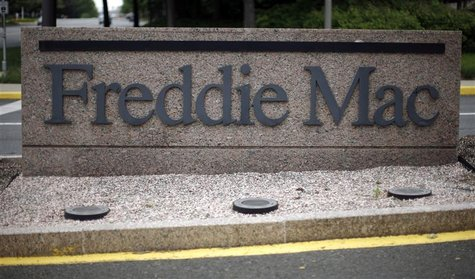 Sign on street signifies headquarters of Freddie Mac in McLean