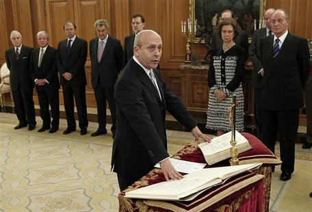 New Education, Culture and Sports Minister Wert is sworn-in during a traditional ceremony at Zarzuela Palace in Madrid