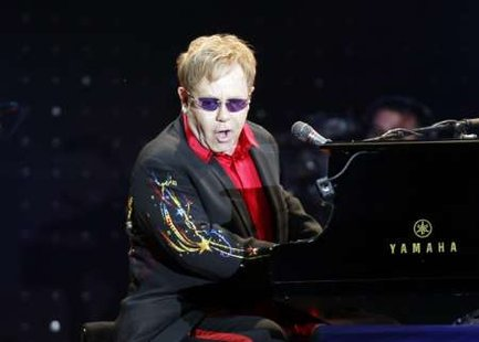 British singer Elton John performs during his concert in Istanbul July 5, 2011. REUTERS/Osman Orsal
