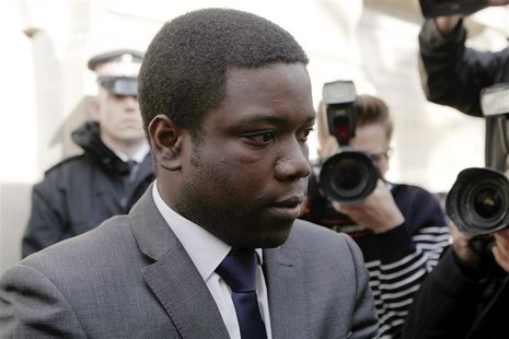 UBS trader Kweku Adoboli leaves City of London magistrates' court in London