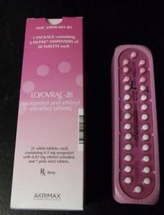 Packaging and samples of Lo/Ovral-28 (norgestrel and ethinyl estradiol) birth control tablets are seen in this handout photo released by the U.S. Food and Drug Administration (FDA)