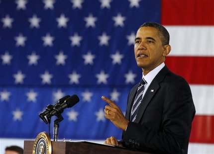 U.S. President Barack Obama discusses about the economy in Arlington