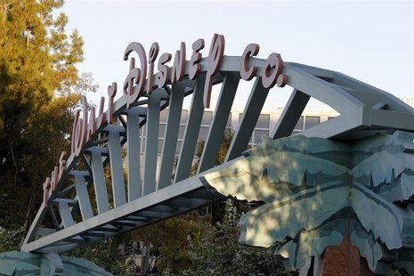 A view of the entrance to the The Walt Disney Co. at the company's headquarters in Burbank