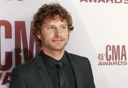Singer Dierks Bentley arrives at the 45th Country Music Association Awards in Nashville