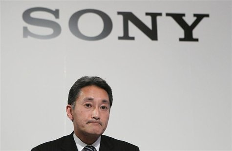Sony's incoming CEO Kazuo Hirai takes part in a news conference in Tokyo