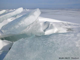 Ice on Lake Winnebago (courtesy of FOX 11).