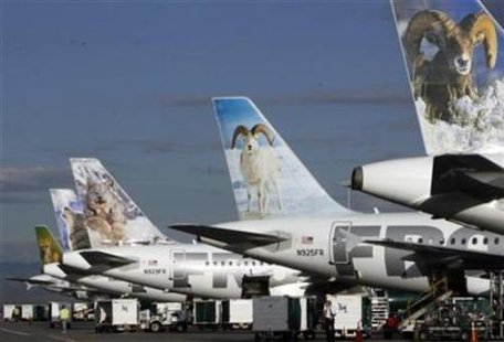 Frontier Airlines planes (Reuters)