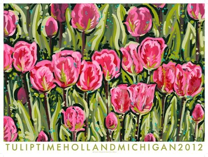 """Beautiful Dream"" - the 2012 Tulip Time Festival official poster by Brittany Strabbing (image courtesy Tulip Time Festival)"
