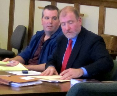 John Lund (left) with attorney