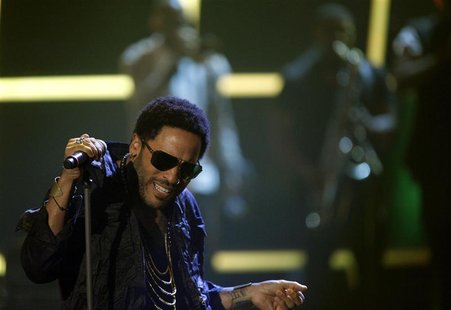 "Lenny Kravitz performs during the German game show ""Wetten Dass"" in Friedrichshafen"