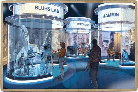 Handout photo of an artist's rendering of The Blues Lab at the National Blues Museum in St. Louis, Missouri