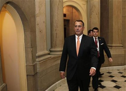 U.S. House Speaker John Boehner walks to the House Chamber on Capitol Hill in Washington