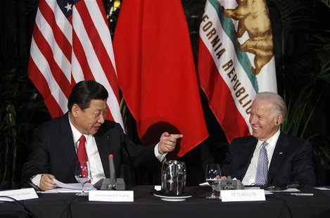 Chinese VP Xi and his U.S. counterpart Biden address a meeting with governors and Chinese provincial officials in Los Angeles