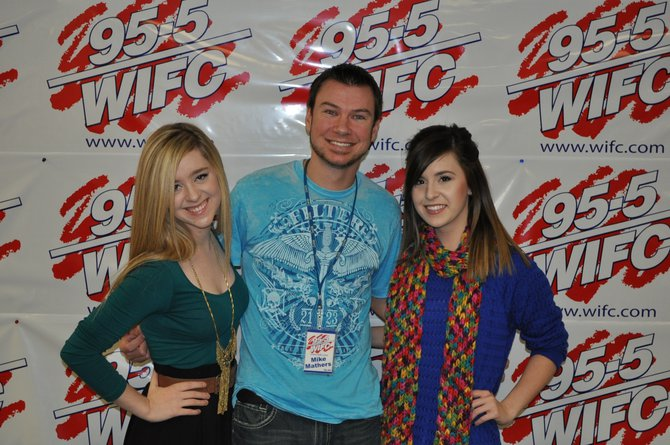 Megan & Liz with Mike Mathers
