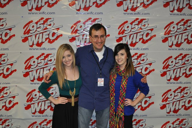 Megan & Liz with Tony Waitekus