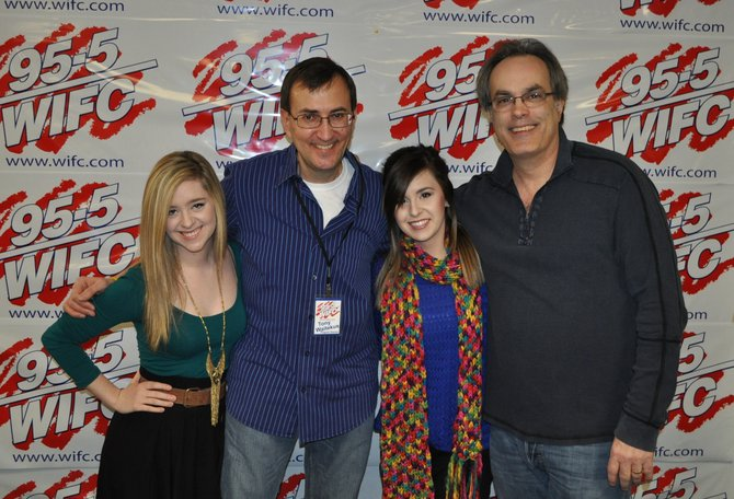 Megan & Liz with Tony Waitekus and rep Bob Hathaway