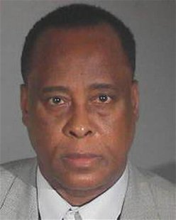 Dr. Conrad Murray is shown in this Los Angeles County Sheriff's Department booking photograph