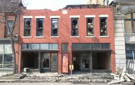 A fire burned down the famed Sarkozy Bakery in Downtown Kalamazoo Saturday 1