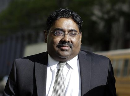 Galleon hedge fund founder Raj Rajaratnam arrives at Manhattan Federal Court in New York