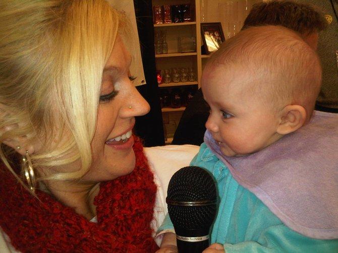 Vanessa talking to Nikki's baby Mia