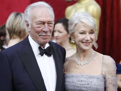 "Christopher Plummer, best supporting actor nominee for ""The Last Station,"" and Helen Mirren, best actress nominee for ""The Last Station,"" arrive at the 82nd Academy Awards in Hollywood, March 7, 2010. REUTERS/Mario Anzuoni (UNITED STATES) (OSCARS-ARRIVALS - Tags: ENTERTAINMENT)"