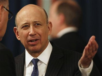 CEO of Goldman Sachs Blankfein talks at the U.S. Chamber of Commerce in Washington