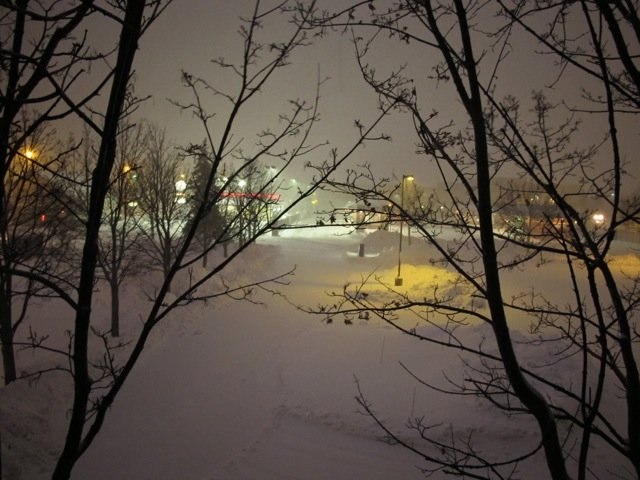 Dave Kallaway took this picture this morning (Feb 29, 2012) 5am out of the WIFC studio window!