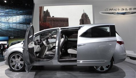 The Chrysler 700 C concept van is displayed on the final press preview day for the North American International Auto Show in Detroit