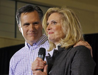 File photo of Ann and Mitt Romney in Exeter