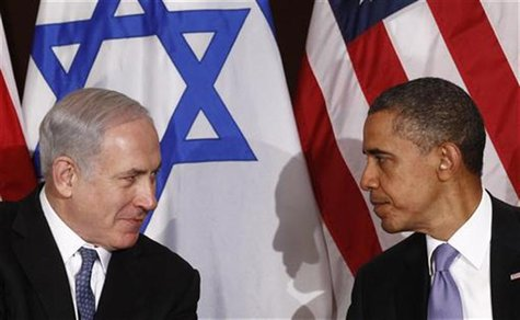 President Barack Obama meets Israel's Prime Minister Benjamin Netanyahu at the United Nations in New York