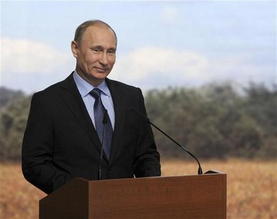 Russian Prime Minister Putin attends a meeting of the All-Russia Agrarian Forum in Ufa