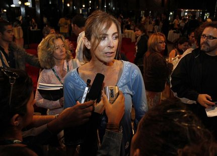 "Movie director Kathryn Bigelow of the United States, winner of an Oscar as best director in 2010 for the ""Hurt Locker"" speaks to reporters i"