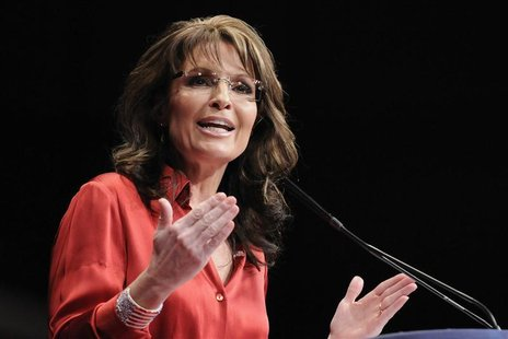 Palin speaks to the Conservative Political Action Conference (CPAC) in Washington