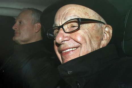 News Corp Chief Executive and Chairman Murdoch arrives in central London