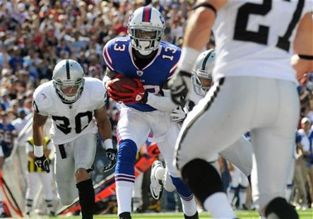 Buffalo Bills' Johnson is in for a touchdown against Oakland Raiders during their NFL football game in Orchard Park