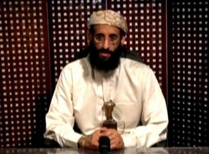 Anwar al-Awlaki, a U.S.-born cleric linked to al Qaeda's Yemen-based wing, gives a religious lecture in an unknown location