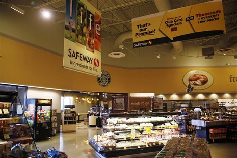 A general view of a local Safeway grocery store in Arvada