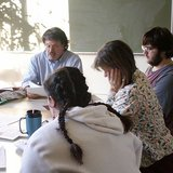 A guest teacher facilitates a discussion in an Explorations classroom. By DanielbdaDirector (Own work) [CC-BY-SA-3.0 (http://creativecommons.org/licenses/by-sa/3.0)], via Wikimedia Commons