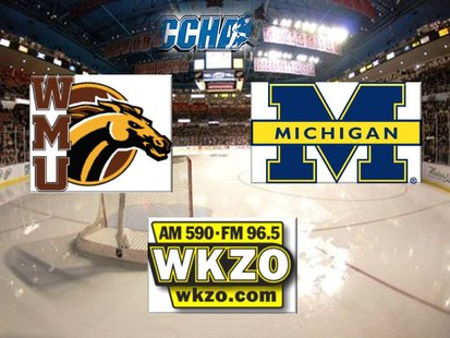 Western Michigan and Michigan meet at Joe Louis Arena at 7:35 pm for the 2012 CCHA Championship