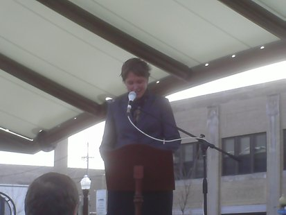 85th Assembly candidate Mandy Wright at her candidacy announcement, March 18, 2012