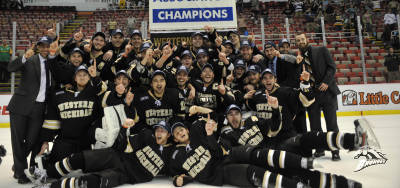 WMU claims their first CCHA title since 1986. Photo courtesy of Western Michigan University