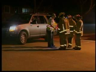 Crews investigate sounds of explosions reported by residents in Clintonville on March 19, 2012. (courtesy of FOX 11).