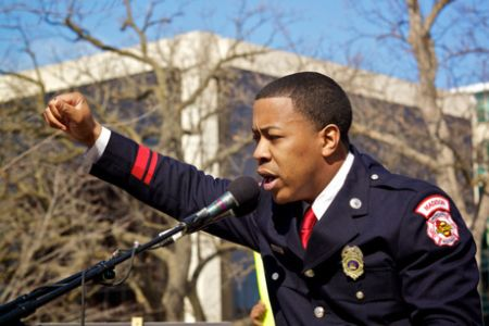 Democratic Lt. Governor candidate Mahlon Mitchell
