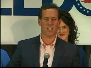 GOP Presidential candidate Rick Santorum makes an appearance in Wisconsin. (courtesy of FOX 11).