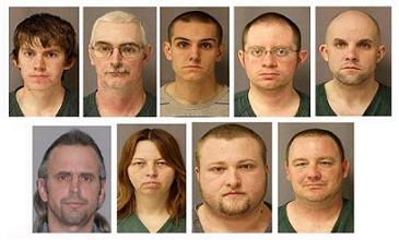 The Hutaree nine (courtesy of the U.S. Marshals Service}