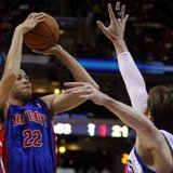 Detroit Pistons forward Tayshaun Prince  REUTERS/Tim Shaffer